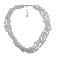 Rainbow Moonstone Gemstone Chips Necklace PG-131576