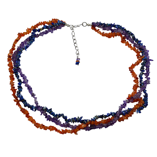 Multi Gemstone Chips Necklace PG-131580