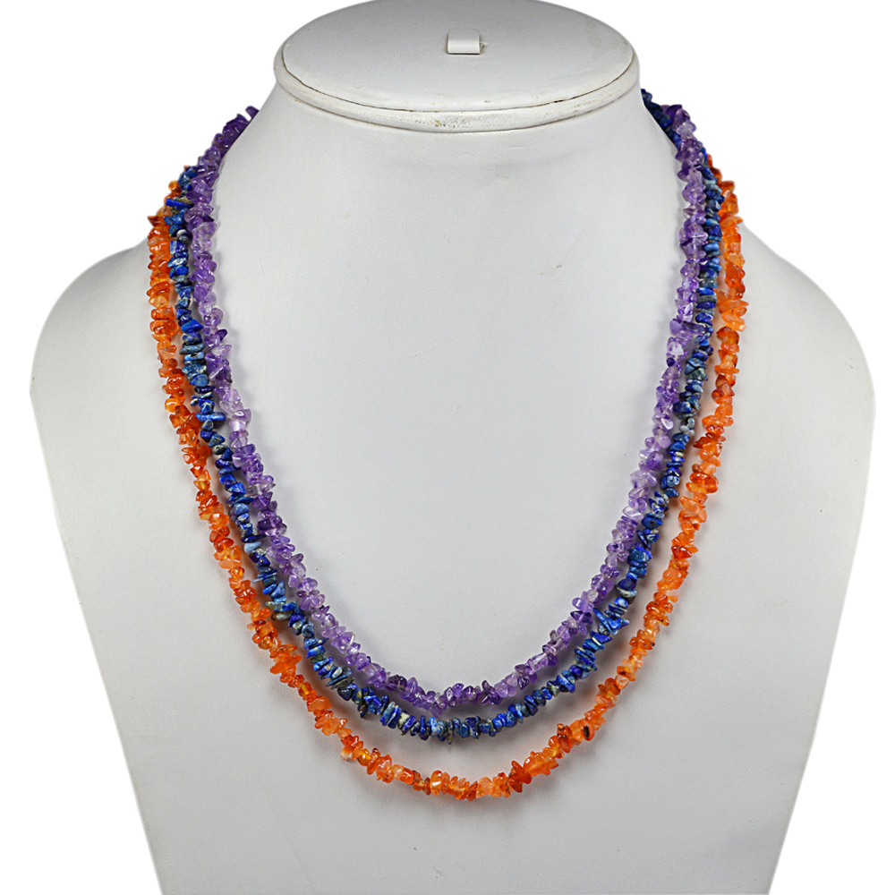 Multi Gemstone Chips Necklace PG-131580