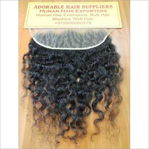 """13"""" X 6"""" Raw Indian Frontal Curly Hair"""