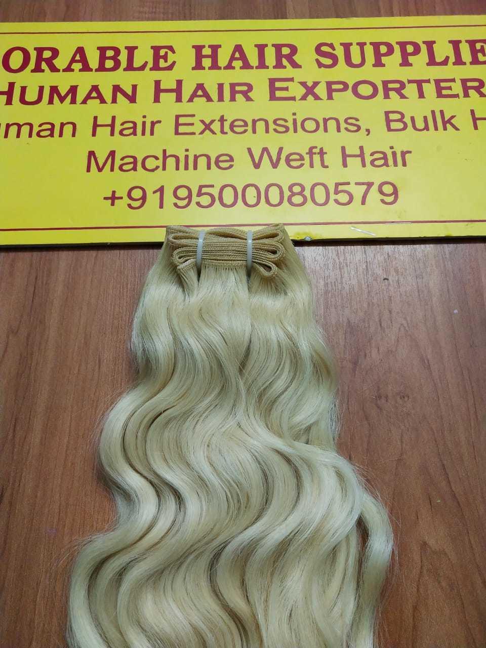 Blonde Virgin Machine Weft Hair