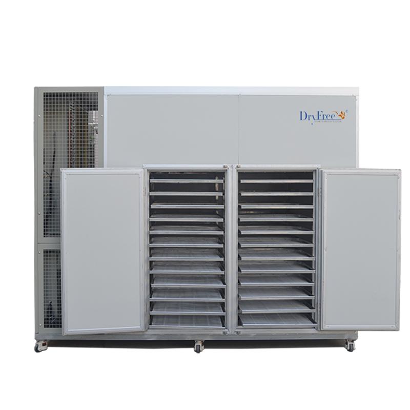High efficiency heat pump prune dehydrator machine