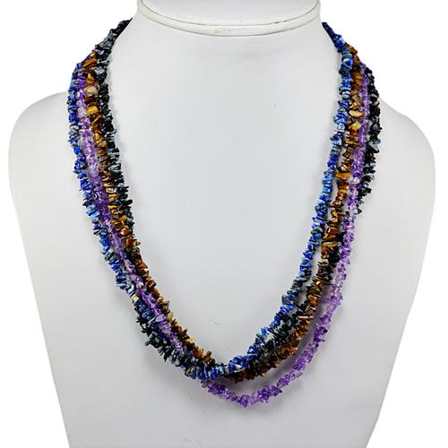 Multi Gemstone Chips Necklace PG-131582