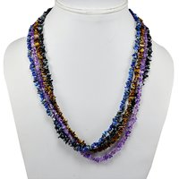 Multi Gemstone Chips Necklace PG-131582