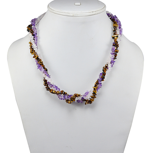 Multi Gemstone Chips Necklace PG-131584