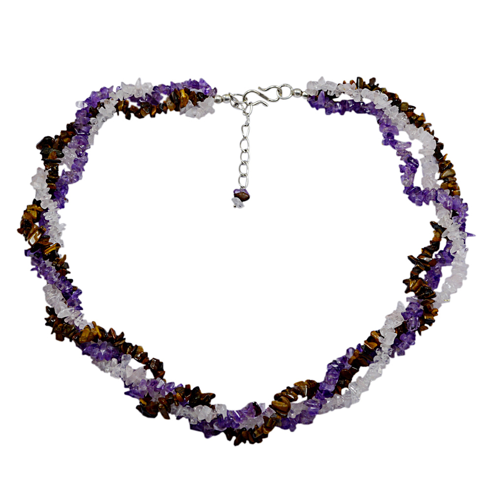 Multi Gemstone Chips Necklace PG-131584