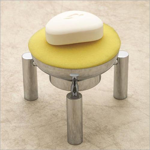 Brass Round Pedestal Soap Dish