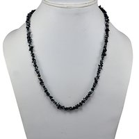 Snowflake Obsidian Gemstone Chips Necklace PG-131586