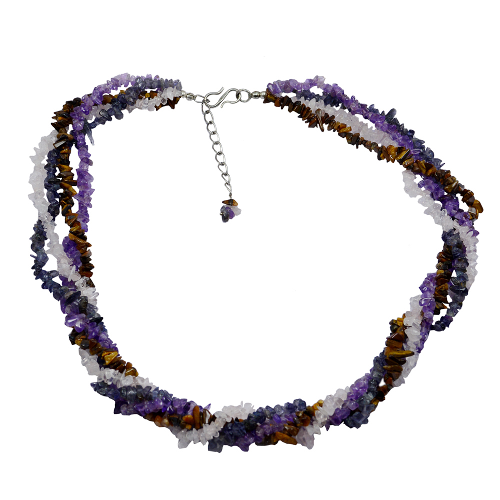 Multi Gemstone Chips Necklace PG-131587