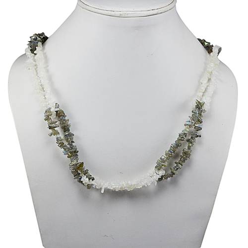 Multi Gemstone Chips Necklace PG-131588