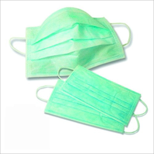 Green PP Non Woven Disposable Face Mask
