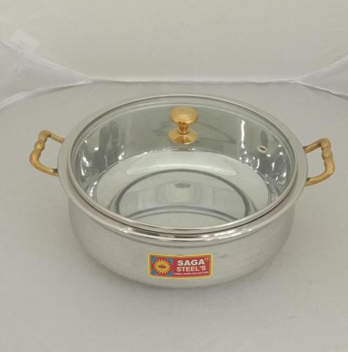 Royal Handi Steel With Glass Lid