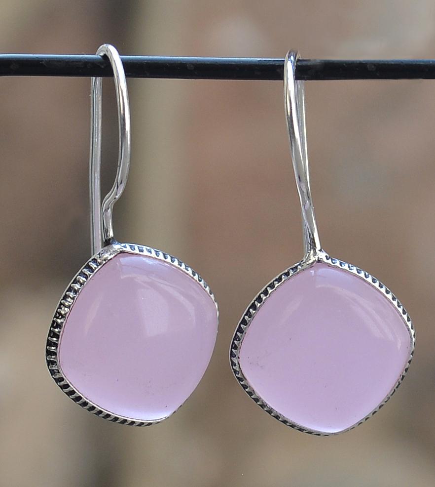 Rose Chalcedony Women Earring PG-133356