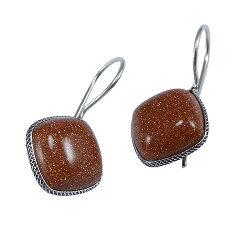 Brown Sunstone Women Earring PG-133357