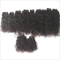 Natural Curly Human Hair Extension , Tangle And Shedding Free