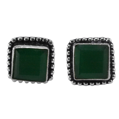 Green Onyx Gemstone Earring PG-133370