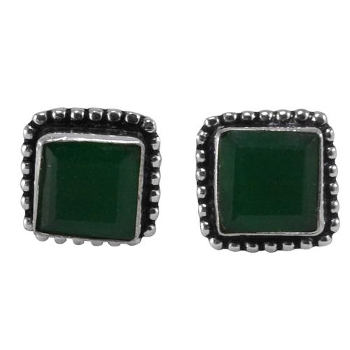 Green Onyx Gemstone Earring PG-133370