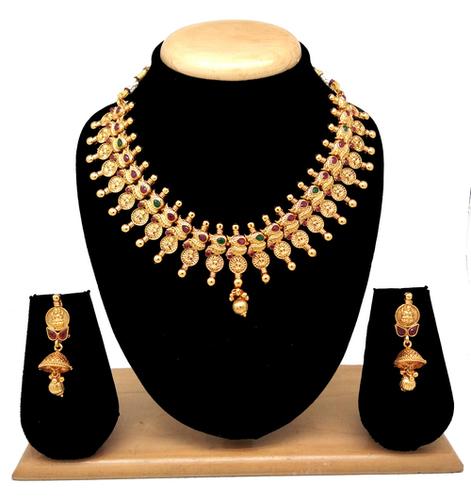 Latest Design Temple Jewellery Necklace set