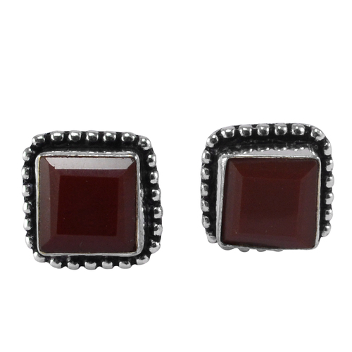 Red Onyx Gemstone Earring PG-133372