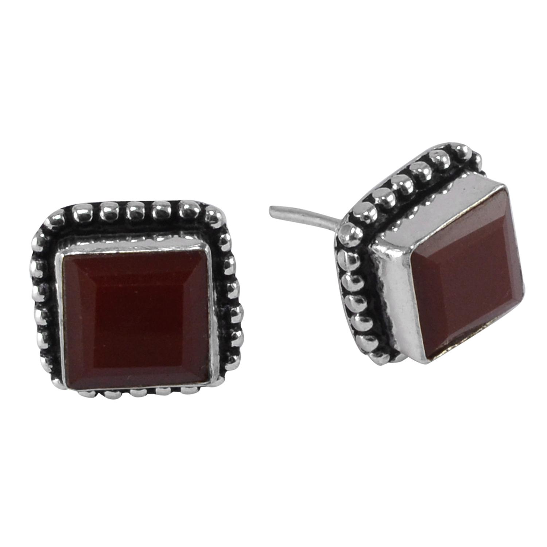 Red Onyx Gemstone Earring PG-133372