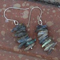 Labradorite Gemstone Silver Earring PG-133374
