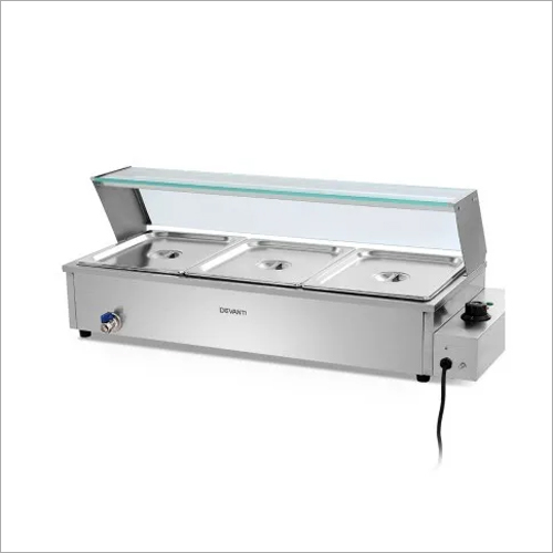 Bain Marie Electric (3 Half GN Pans) Commercial