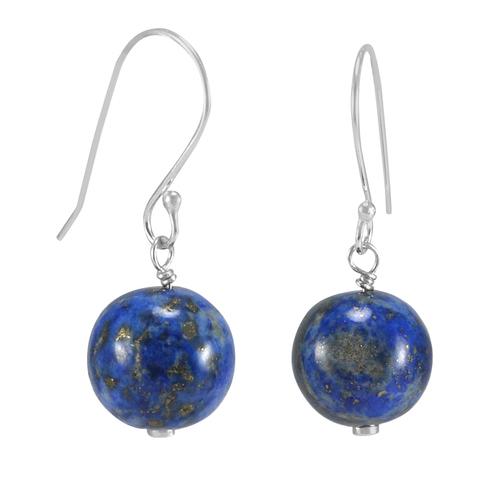 Lapis Lazuli Gemstone Silver Earring PG-133382