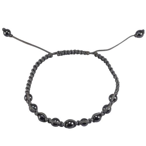 Hematite Gemstone Stretchable Bracelet PG-133383