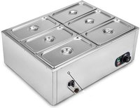 Bain Marie [4 Pans of 1/3 x 150mm, 5.5 ltr. each] Commercial