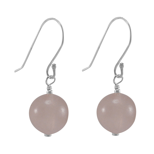 Rose Chalcedony Silver Earring PG-133391