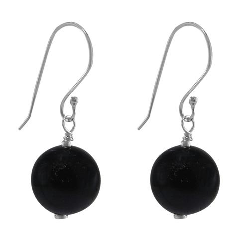 Black Onyx Silver Earring PG-133392