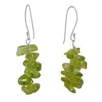 Green Peridot Silver Earring PG-133395