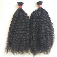 I tip Raw Kinky Curly,Temple hair