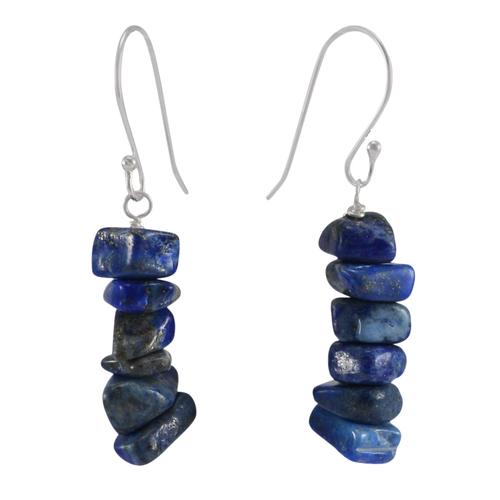 Lapis Lazuli Silver Earring PG-133396