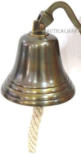 "NauticalMart Christmas Hanging Bell 6"" Ship Bell"