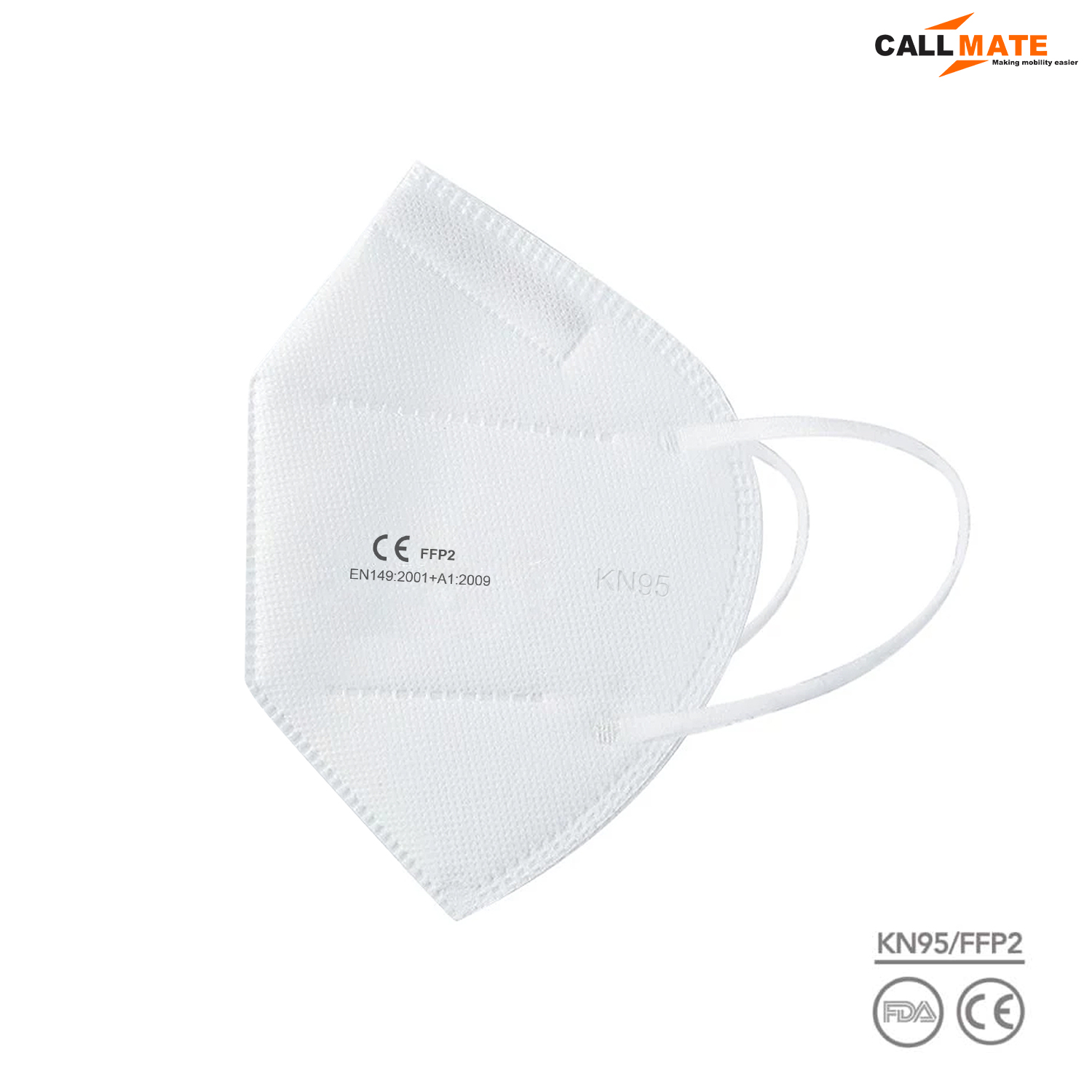 KN95 Respirator Pollution Washable and Reusable Face Mask