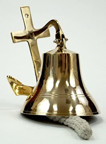 Brass Anchor Wall Bell ~ Ships Bell ~ Nautical Maritime Decor