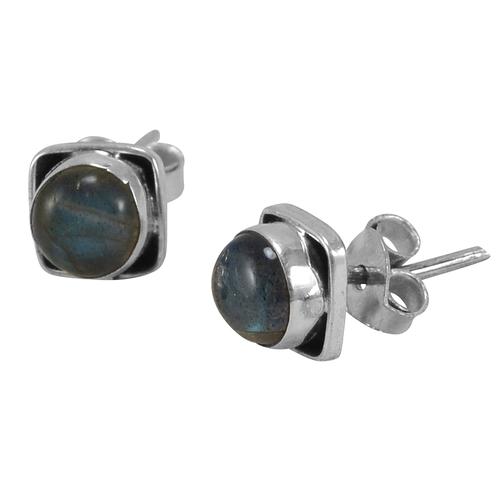 Silvesto India Labradorite Silver Earring PG-155707
