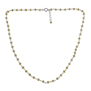 Citrine Silver Beaded Necklace PG-155757