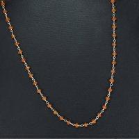 Carnelian Silver Beaded Necklace PG-155759