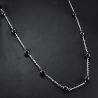 Hematite Silver Beads Necklace PG-155760
