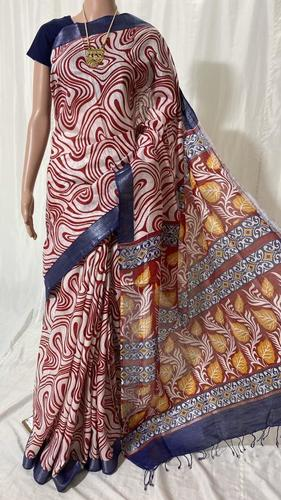 LINEN BY COTTON SAREE.