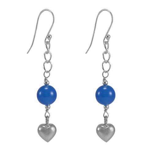 Blue Chalcedony Gemstone silver Earring PG-155813