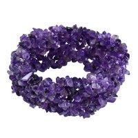 Amethyst Gemstone stretchable Bracelet PG-155824