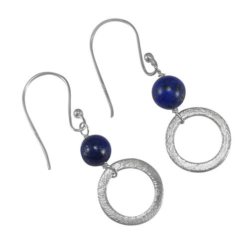 Lapis Lazuli Gemstone Silver Earring PG-155831