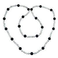 Black Onyx & Howlite Gemstone Necklace PG-155836