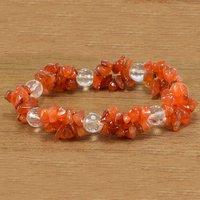 Carnelian & Crystal Quartz Gemstone Bracelet PG-155840