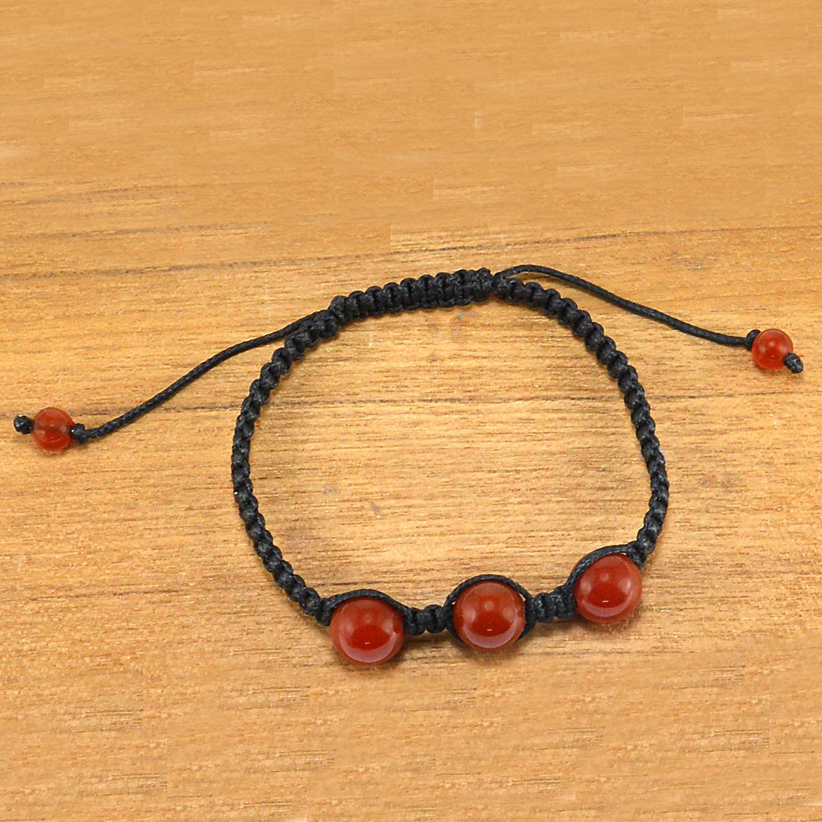 Red Onyx Gemstone Adjustable Bracelet PG-155841