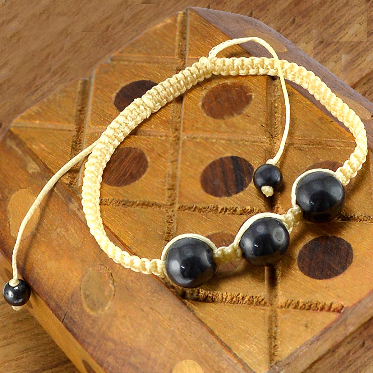 Hematite Gemstone Adjustable Bracelet PG-155842
