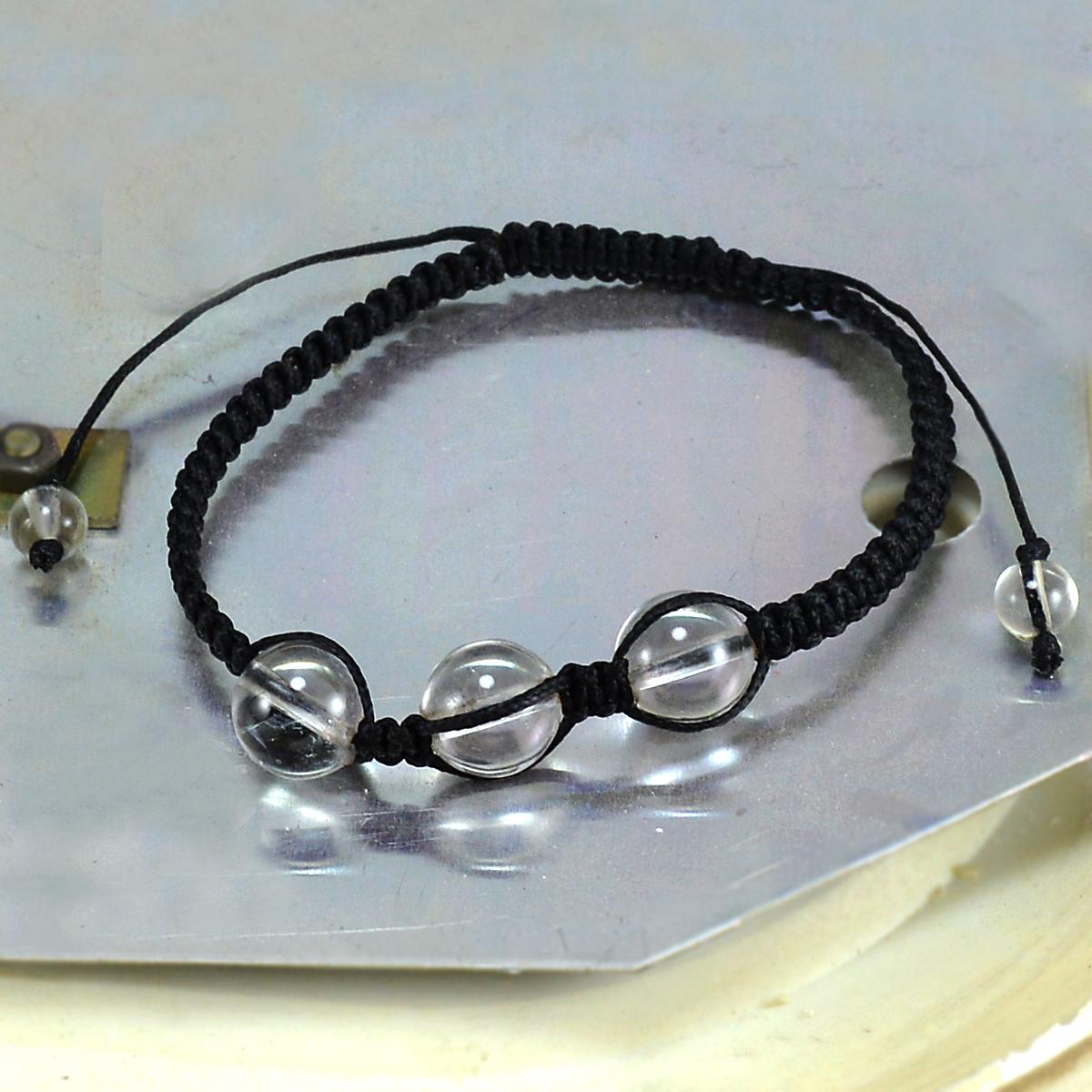 Crystal Quartz Gemstone Adjustable Bracelet PG-155843